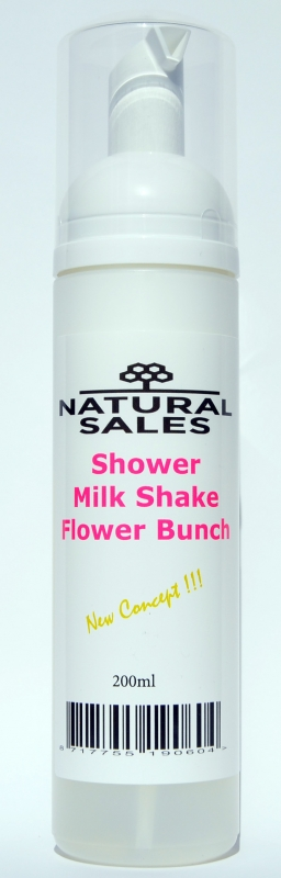 Shower Foam Milk Shake  Flower Bunch